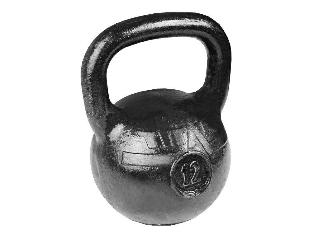 Гиря 12 кг литая чугунная, артикул 16230