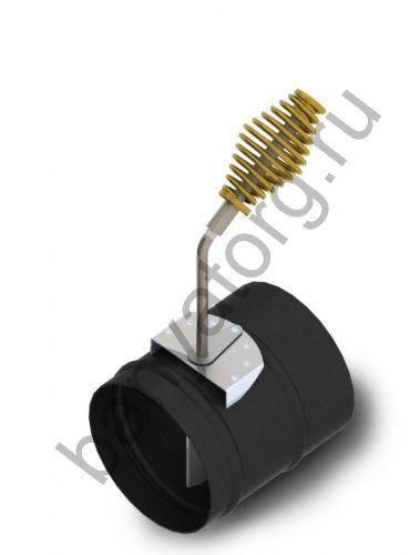 Шибер ф150, 1,5мм, 08ПС, антрацит, прямой (для печей Доцент ТМФ)