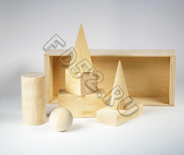 Набор деревянных геометрических фигур 7 штук ДММ-004