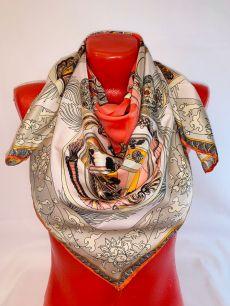 Шелковый платок Hermes арт 128