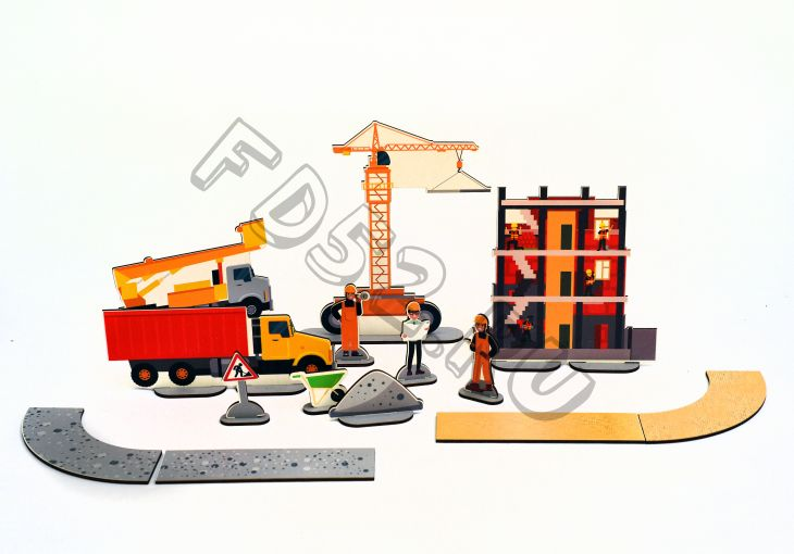 Дидактическая игра Стройка (ХДФ) ИО-323