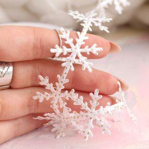 Лента снежинки Белая
