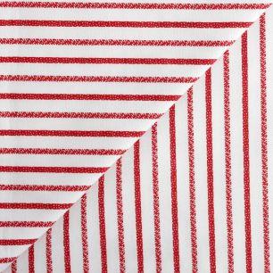 Хлопок - Красно-белая полоска 50х40