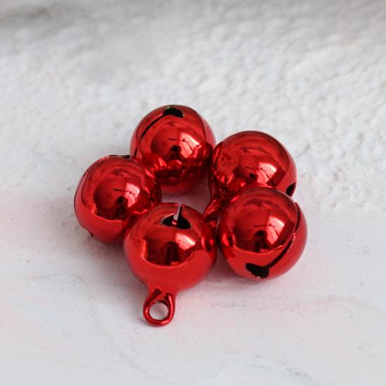Бубенчики - 1 см Металлические красные