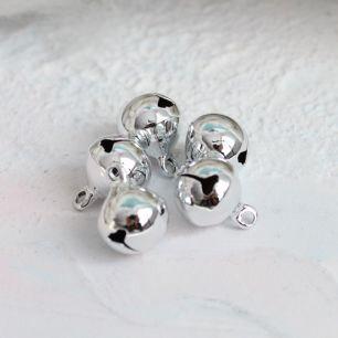 Бубенчики - 1 см Металлические серебряные
