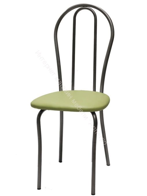 """Кухонный стул """"Венский 2"""" оливковый/серебристый металлик"""