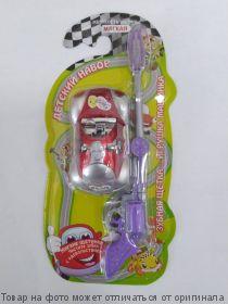 Vilsen brush.Зубная щетка детская с игрушкой Машинка (мягкая), шт