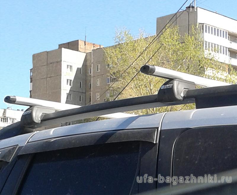 Багажник на рейлинги Nissan Terrano, Евродеталь, аэродинамические дуги