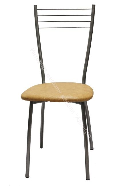 "Кухонный стул ""Сильвия"" бежевый/серебристый металлик"
