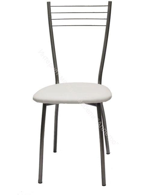 "Кухонный стул ""Сильвия"" белая рептилия/серебристый металлик"