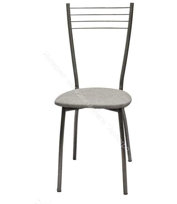 "Кухонный стул ""Сильвия"" белый мрамор/серебристый металлик"