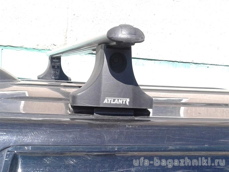 Багажник на крышу Nissan Terrano 1993-...(без рейлингов), Атлант, аэродинамические дуги