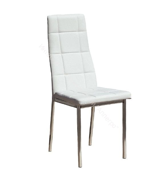 """Кухонный стул """"Волна премиум"""" Белый/Хром"""