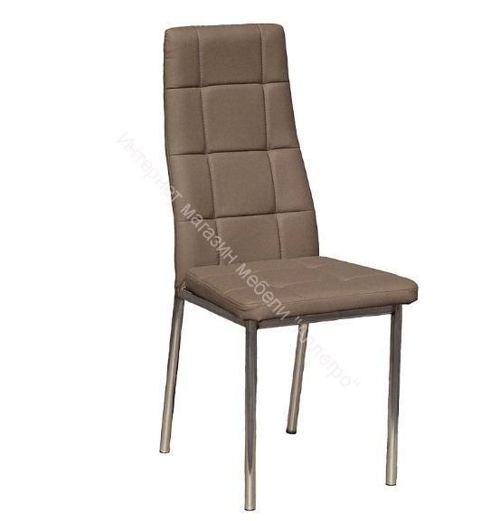 """Кухонный стул """"Волна премиум"""" Кофе/Хром"""