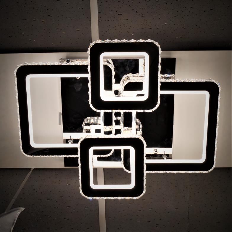 Управляемый светодиодный светильник Brilliance 2883 240W нерж.сталь/кристалл 610x480mm пульт Oreol