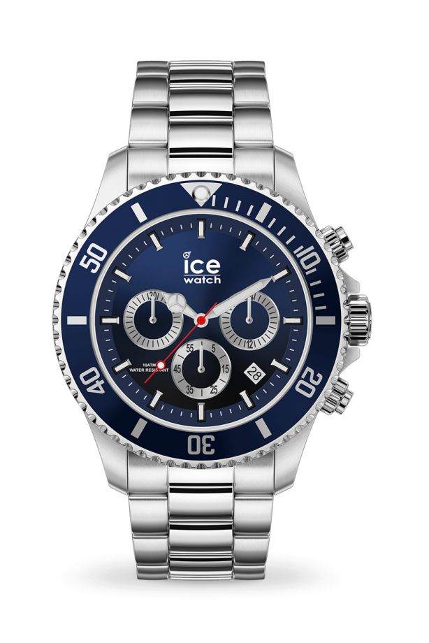 Ice Steel - Marine silver Chrono