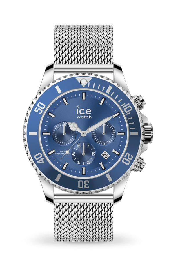 Ice Steel - Mesh blue Chrono
