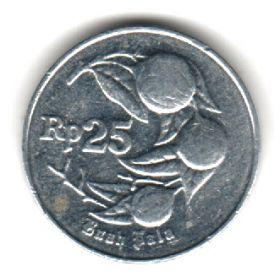 Индонезия 25 рупий 1994