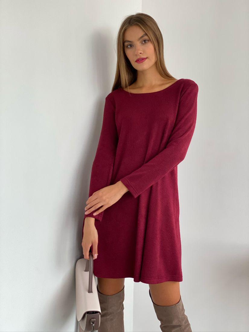 s2670 Платье-трапеция из ангоры