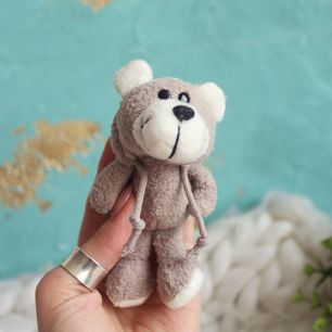 Мишка NICI для куклы с капюшоном серый, 11 см