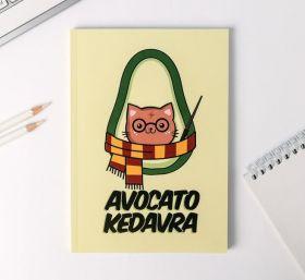Ежедневник в тонкой обложке Avocato kedavra А5, 80 листов