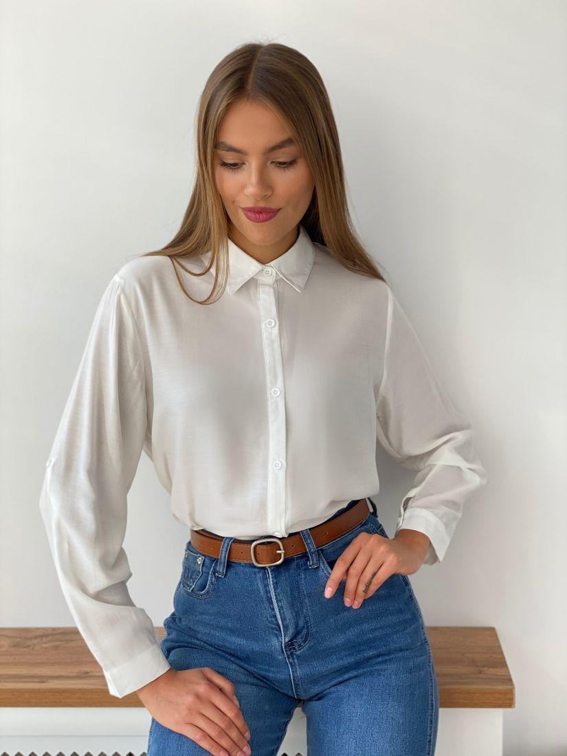 s2684 Рубашка классическая белая