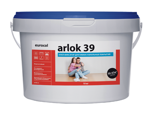 Водно-дисперсионный клей Arlok 39 3 кг фиксатор для пвх-плитки и ковролина