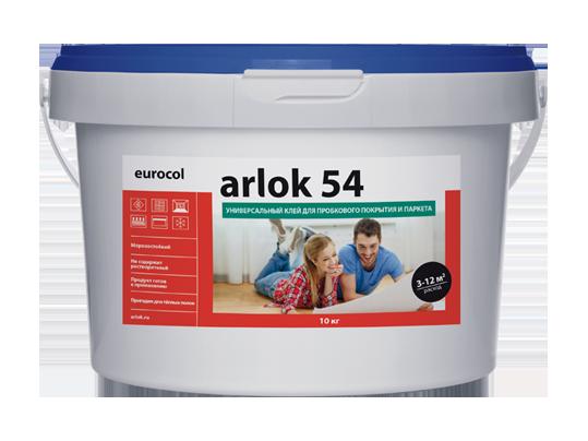 Клей универсальный для пробкового покрытия и паркета Arlok 54 10 кг