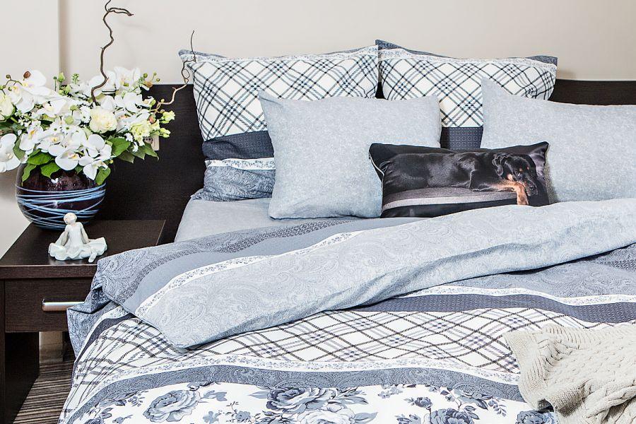 Поплин 2-х спальный с евро [серый] Валери постельное белье