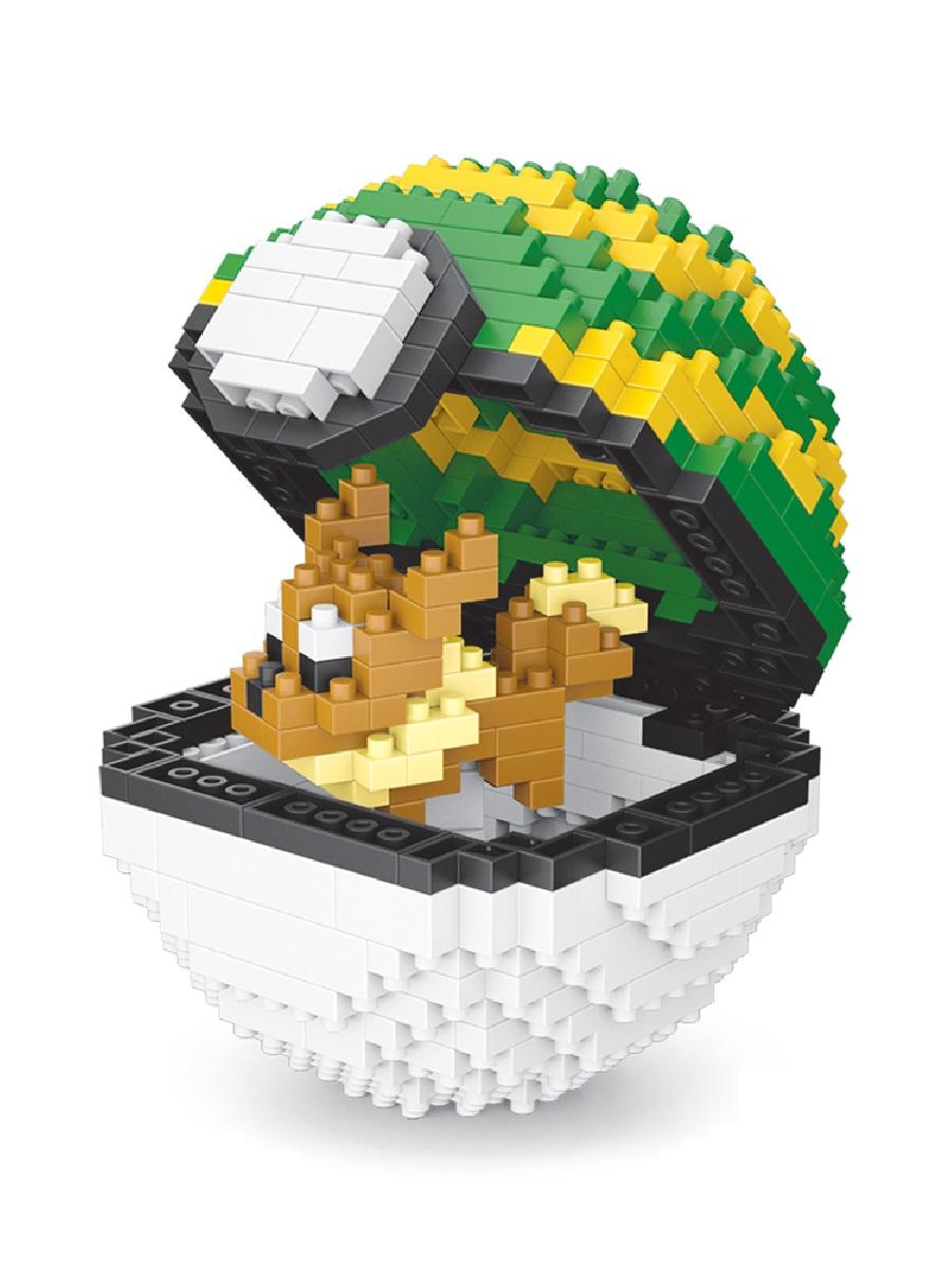 Конструктор Wisehawk & LNO Покемон бол Иви 450 деталей NO. 311 Eevee Pokemon ball Series