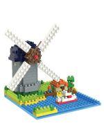 Конструктор Wisehawk & LNO Деревня Киндердейк Нидерланды 315 деталей NO. 3281 Molen Kinderdijk Elshout Gift Series