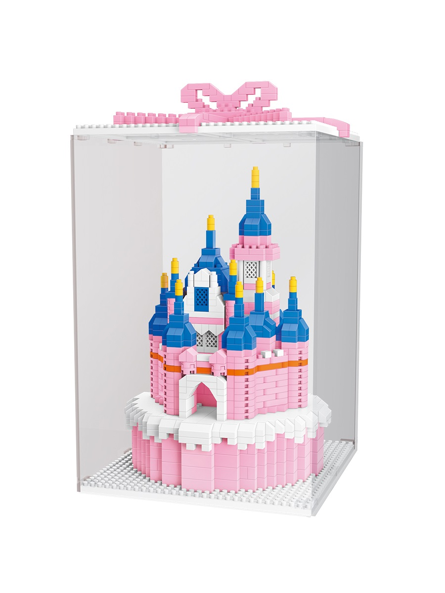 Конструктор Wisehawk & LNO Розовый замок 1264 детали NO. 2614 Castle Pink Series