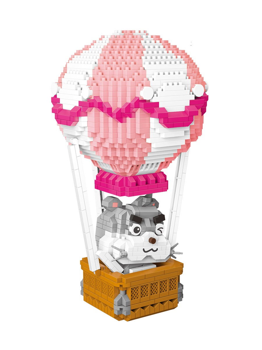 Конструктор Wisehawk & LNO Воздушный шар 1357 деталей NO. 2615 Hot Air Balloon Pink Series