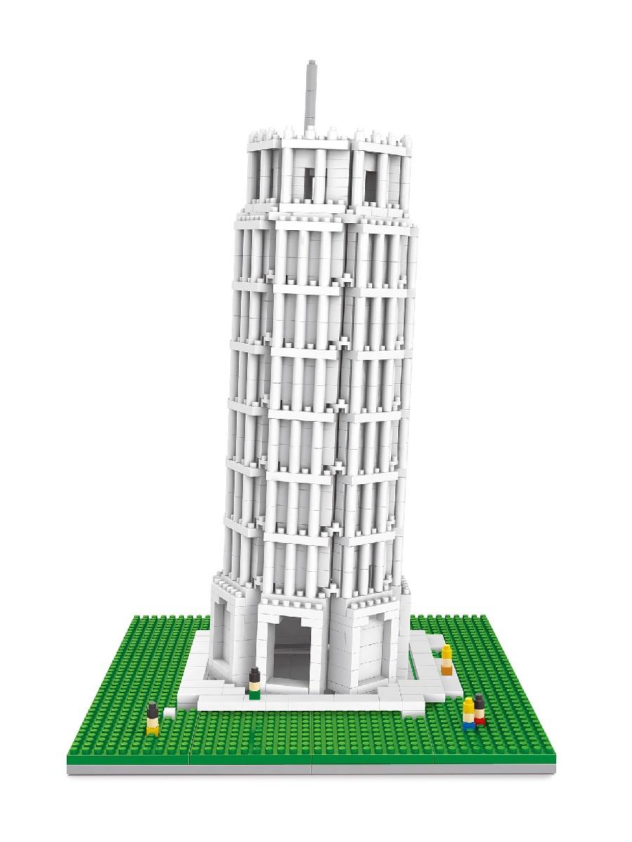 Конструктор Wisehawk & LNO Пизанская башня Италия 1073 детали NO. 2461 Leaning Tower of Pisa Gift Series