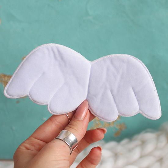 Кукольный аксессуар Крылья ангела голубые 15 см