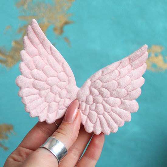 Кукольный аксессуар Крылья ангела розовые 10 см