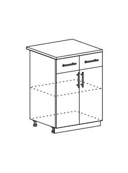 Шкаф нижний с 2 ящиками Юлия ШН1Я 600