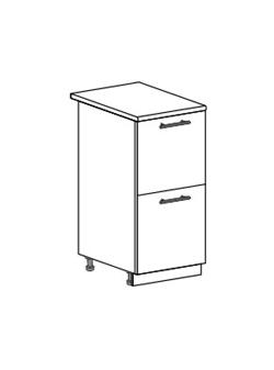 Шкаф нижний с 2 ящиками Юлия ШН2Я 400