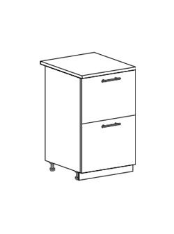 Шкаф нижний с 2 ящиками Юлия ШН2Я 500