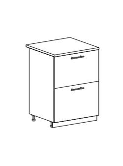Шкаф нижний с 2 ящиками Юлия ШН2Я 600