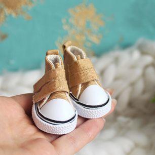Обувь для кукол - кеды 5 см (бежевые)