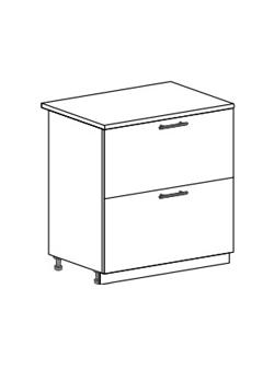 Шкаф нижний с 2 ящиками Юлия ШН2Я 800