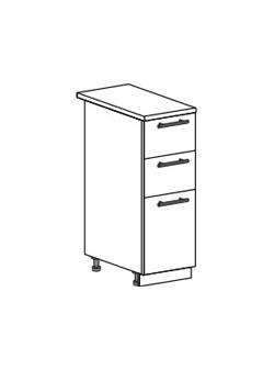 Шкаф нижний с 2 ящиками Юлия ШН3Я 300