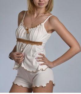 пижама с шортами , модель 18, размер 42_44, хлопок