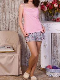 пижама с шортиками хлопок 100%,, модель 633, размеры 42_48
