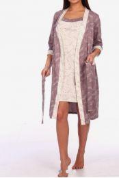 Халатик с сорочкой , хлопок 100%, размер 44_50, модель 324
