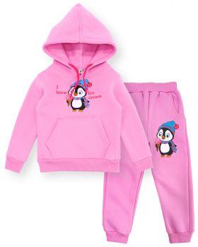 Костюм с начесом для девочки Baby Style розовый