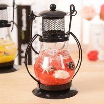 Гелевая свеча Чёрная Керосиновая Лампа, 13 см., красный