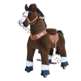 Поницикл средний «Лошадка» темно-коричневая озвученная