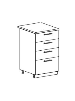 Шкаф нижний с 2 ящиками Юлия ШН4Я 500